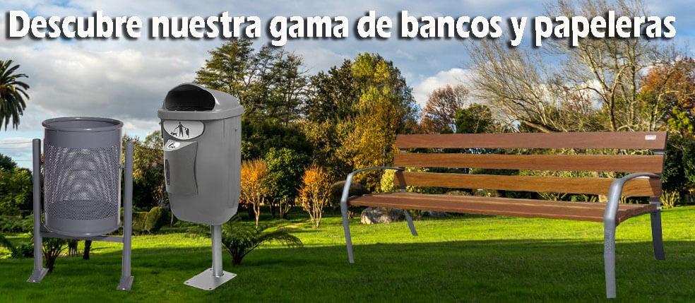 Papeleras abatibles Barcelona de 60 litros parques y jardines