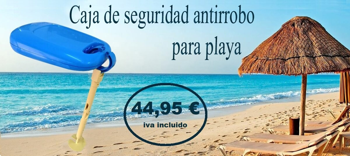 Caja antirrobo playa